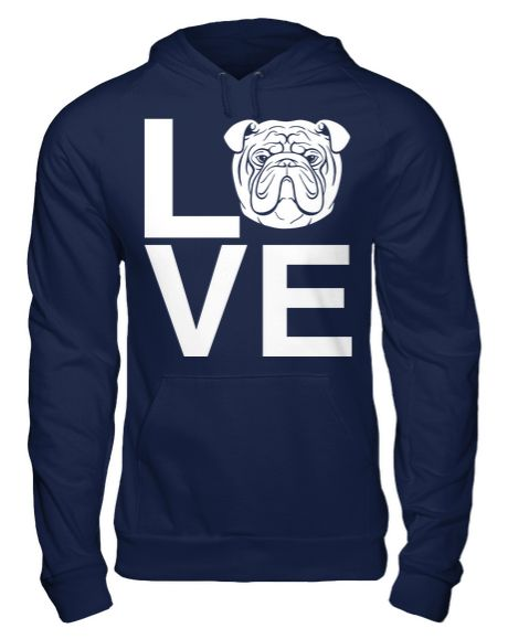This Bulldog Love hoodie is an A Dog's Love™ exclusive for bulldog lovers who…