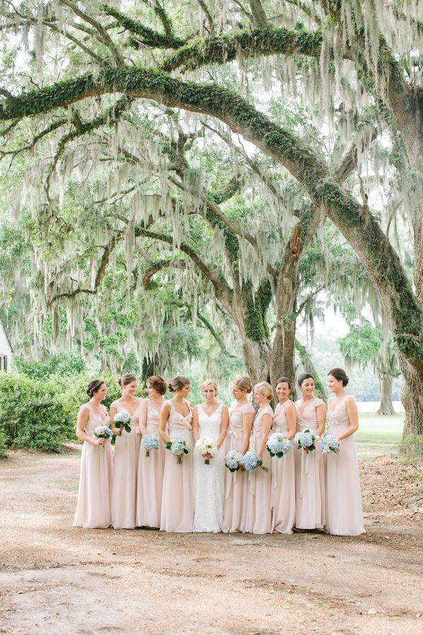 bridesmaid dresses in sand | Ashley Seawell #wedding