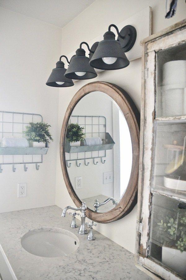 14 best bathroom ideas images on pinterest bathroom - Farmhouse bathroom vanity lights ...