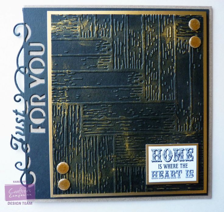 Parquet Folder Kraft Card, Black Card, Gold Card Gold Golding Wax Card Candi, Glossy Accents Sentiment, Die'sire Edgeables Just For You die