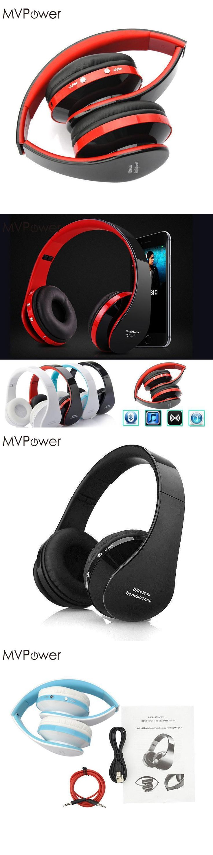 MVpower Portable Wireless Bluetooth Headset Gamer Cordless Headphones Stereo Music Big Earphone For Samsung s6 s7 for iphone