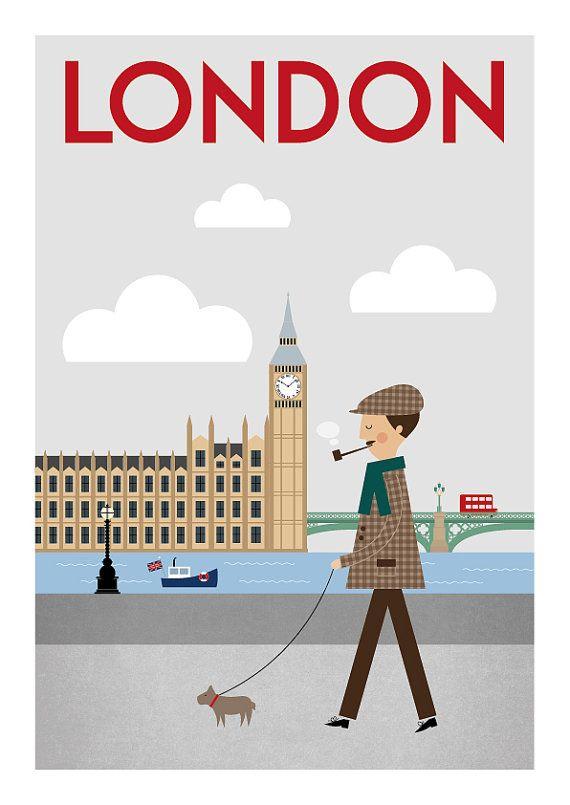 london print london poster london art london wall by TomasDesign