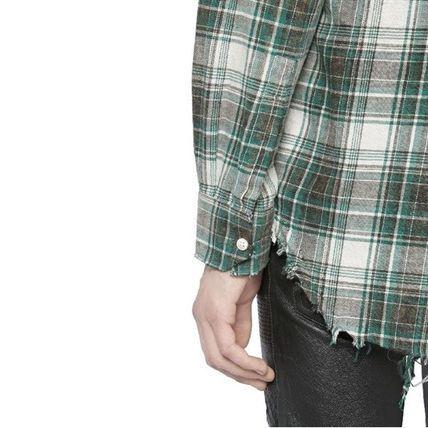 Saint Laurent シャツ 16春夏新作 Saint Laurent グリーンチェック コットンネルシャツ(4)