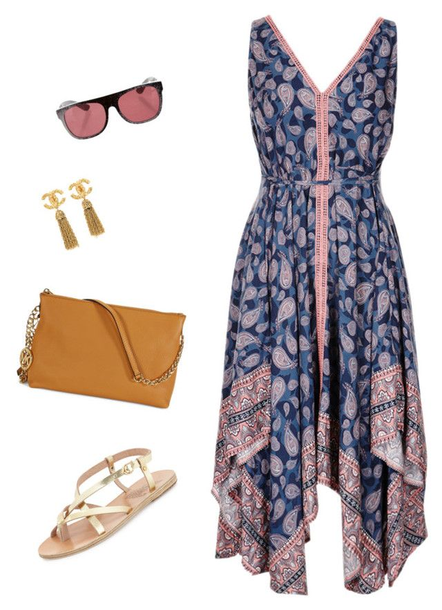"""I feel boho today"" by yourownart ❤ liked on Polyvore featuring RetroSuperFuture, Ancient Greek Sandals, Michael Kors, Chanel, women's clothing, women, female, woman, misses and juniors"