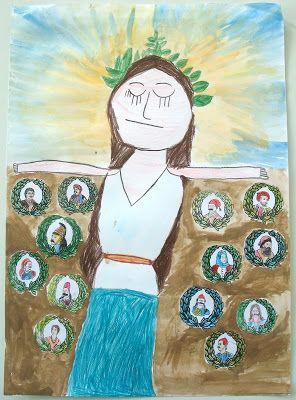 Η Νατα...Λίνα στο Νηπιαγωγείο: 25η Μαρτίου