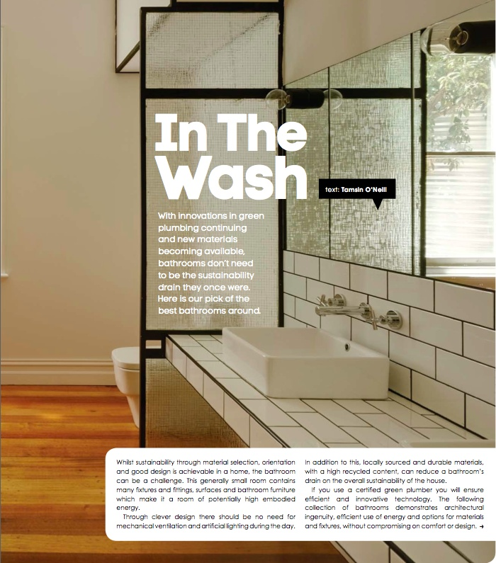 in the wash - photography: Peter Bennetts, architect: Andrew Maynard