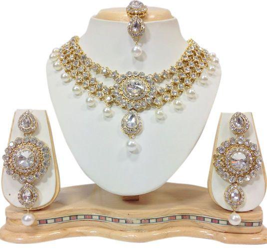 Indian Gold Plated Stones Kundan Necklace Earrings Party: 18 Best Wedding Party Wear Women Beautiful Kundan Jewelry