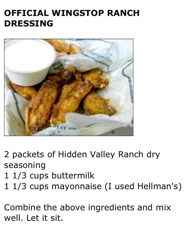 Similar to Wing stop ranch supposedly