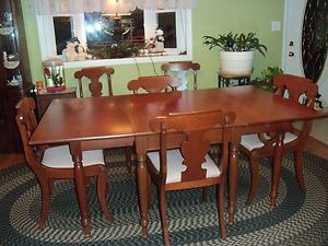 willett furniture willett wildwood cherry 9 piece dining room table and chairs ebay