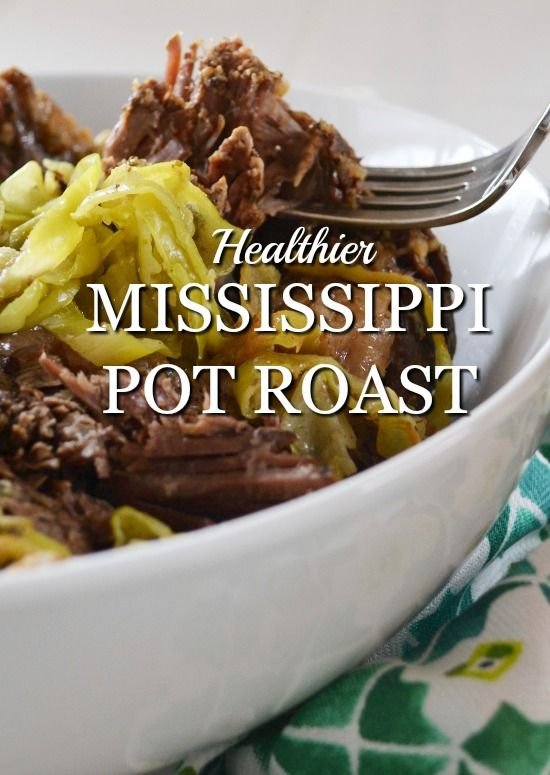 A healthier variation of the original Mississippi Pot Roast slow cooker recipe. Equally as flavorful, equally as easy.