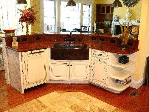 Kitchen Red Granite Countertop Coupled With White Island Decorating Elegant Classic Design Get Exclusive Impression G