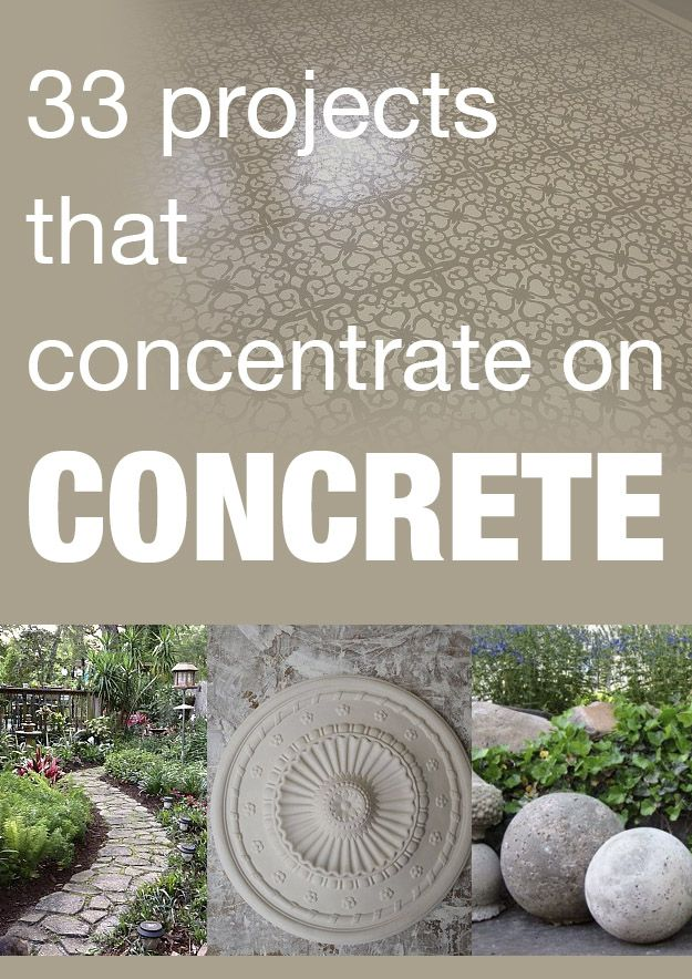 33 projects that concentrate on concrete