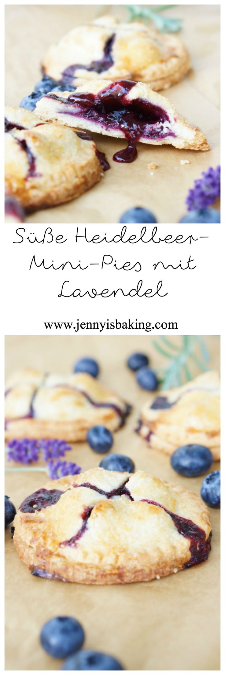 Süße Heidelbeer-Mini-Pies mit Lavendel, genau richtig!