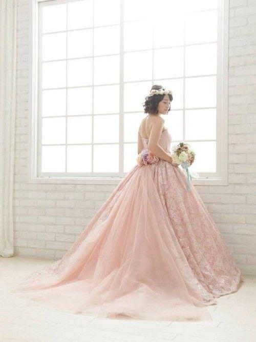印象に残る人気のカラードレスで気分はプリンセス!ピンクのプリンセスの花嫁衣装・ウェディングドレス・カラードレスまとめ一覧♡