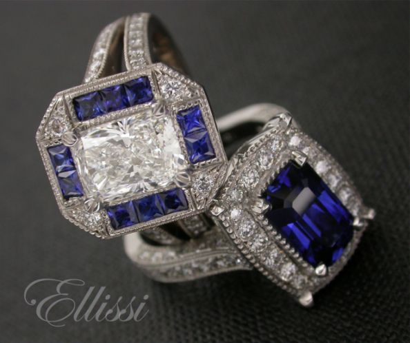 Some guys can give you the blues...but in this case maybe that would be OK...what do you think ? Mmmm... Ceylon sapphires in the top colour grades... the blues don't get better that this #jewellery #wedding #engagement