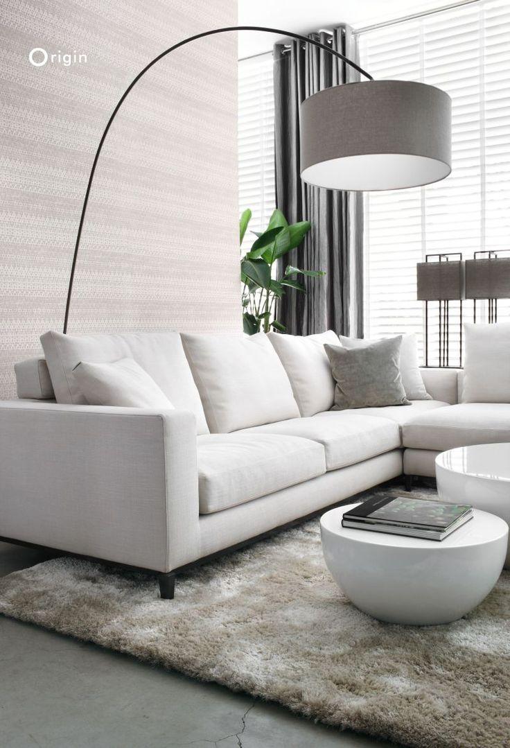 Non-woven wallpaper natural white animal skin texture - wallcovering collection Raw Elegance, Origin - luxury wallcoverings   Wit vliesbehang met een natuurlijke dierenhuid structuur, behang collectie Raw Elegance