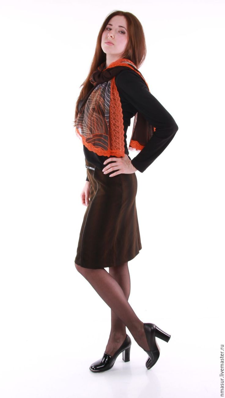 """Купить Офисная юбка """" Горький шоколад"""" - юбка авторская, офисная юбка"""