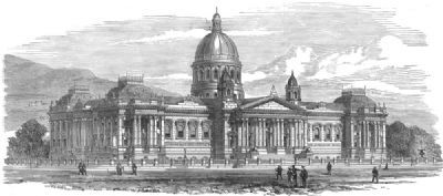 SOUTH AFRICA: New Houses of Parliament, Cape Town, South Africa, old print, 1878