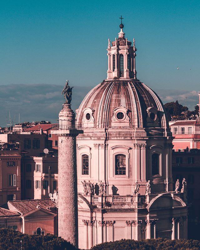 Scorci Di Roma Dalla Terrazza Del Vittoriano La Statua Di