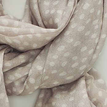 Dotty Wool Scarf - Stone - Scarves and Accessories | The White Company