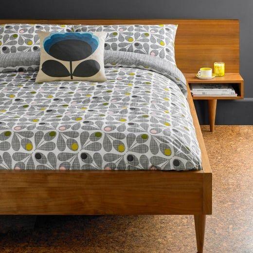 Orla Kiely House Acorn Cup Slate Duvet Cover - Super King