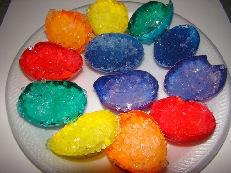 How to Make Crystal Egg Geodes  This looks fun. It might make a cool science fair project.