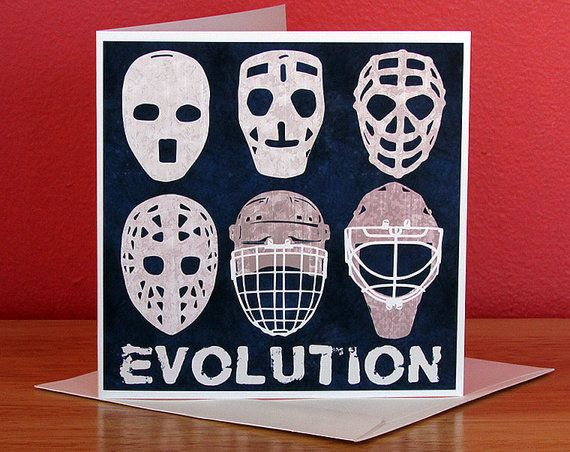 132 best Hockey Art On canvas posters cards stickers images – Hockey Birthday Card