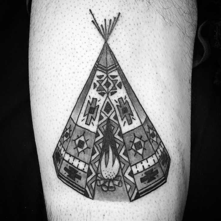 """""""Off of the #campvibes #flash I painted a few months back  #tipi"""""""