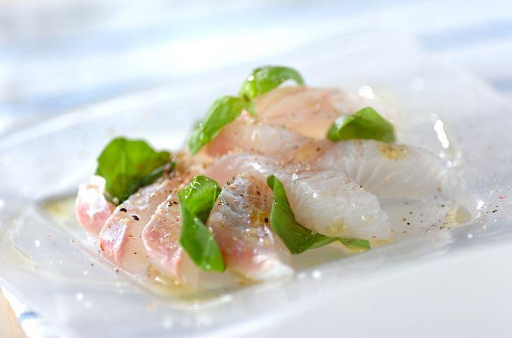 シンプルな味付けで、素材の味を活かして。ヒラメのカルパッチョ[洋食/前菜]2009.05.25公開のレシピです。