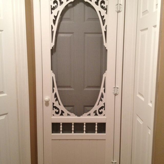 screen door to keep cats out of bedroom 1