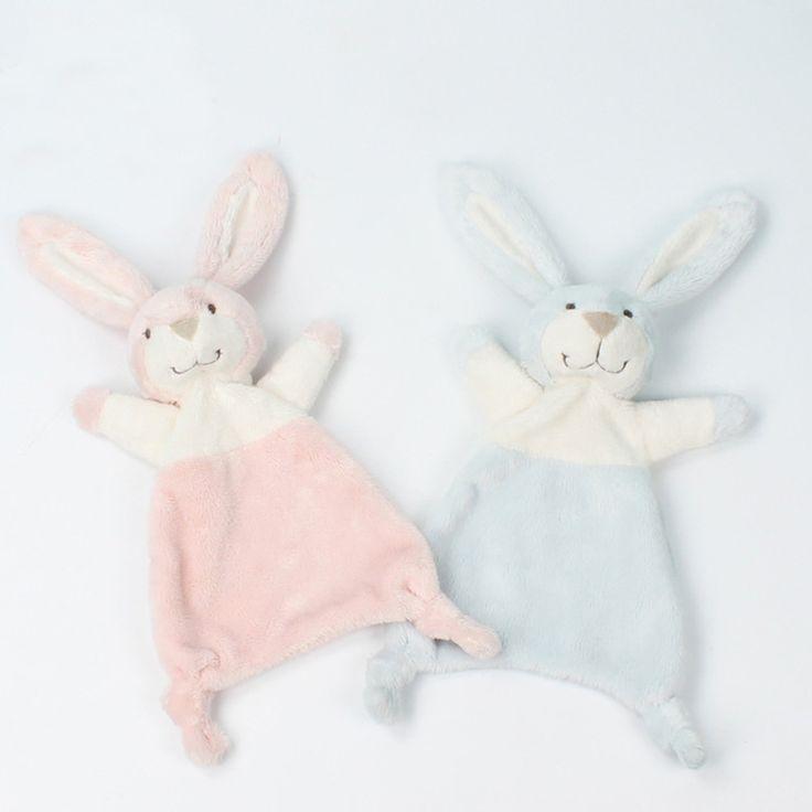ベビー掛け布団毛布なだめるタオル新生児セキュリティ毛布ソフトぬいぐるみバニーウサギの人形赤ちゃんのおもちゃハンカチ0-12ヶ月