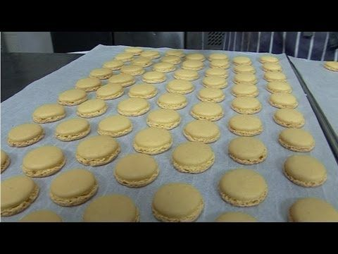 How to make Macarons (Italian Meringue method) with TV Chef Julien Picamil from Saveurs Dartmouth UK - YouTube