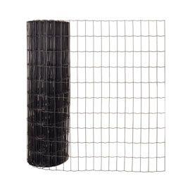 Grillage soudé noir 100 x 50 mm, L.20 x H.1,2 m