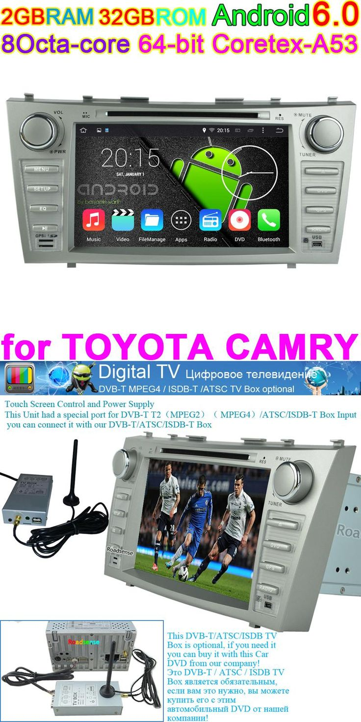 """[Visit to Buy] Octa Core Car DVD Android 6.0.1 GPS Navigation PC for Toyota Camry 2007 2008 2009 2010 2011 Audio HD 8"""" Resolution 1024 RGB 600 #Advertisement"""