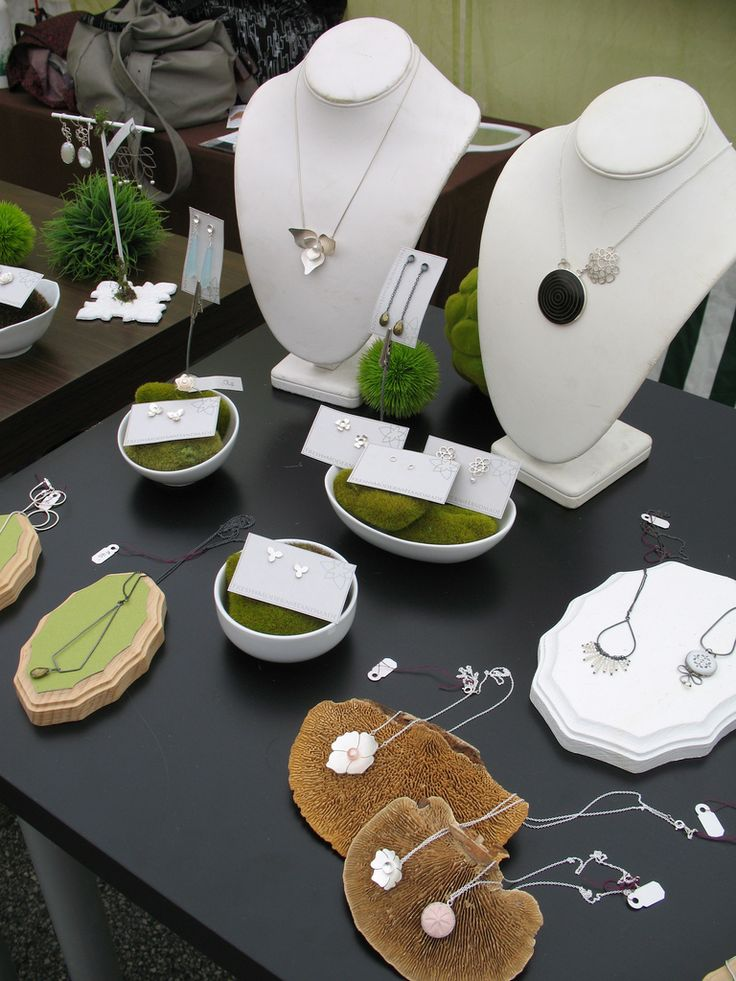 Katie Lime's Jewelry Booth.  Natural elements.