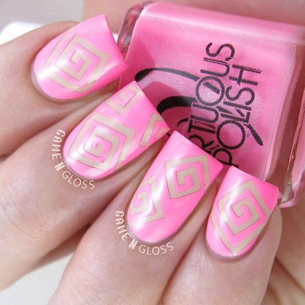 17 Best Ideas About Short Pink Nails On Pinterest