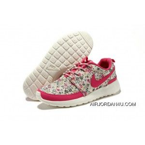 en soldes 8336a 2827b Nike Roshe Run Floral Pink White Womens Shoes Latest in 2019 ...