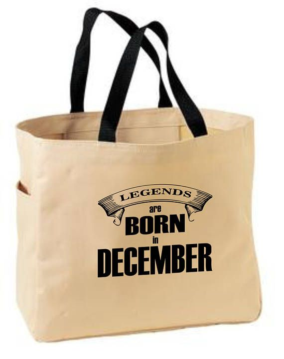 December themed tote bag  December birth month gift