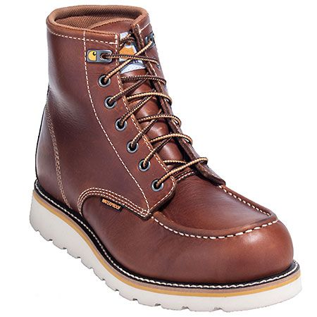 Carhartt Boots: Men's CMW6270 Steel Toe Waterproof EH Wedge Work Boots,    #Boots,    #CMW6270,    #CarharttBoots