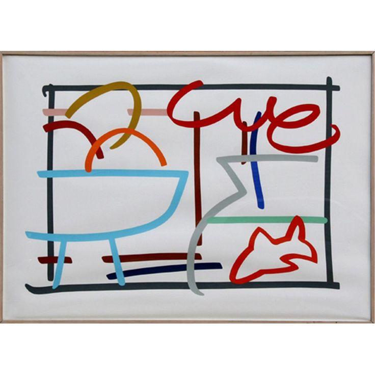 Tom Wesselmann | Fast Sketch Still Life with Goldfish; Edition 51 ...