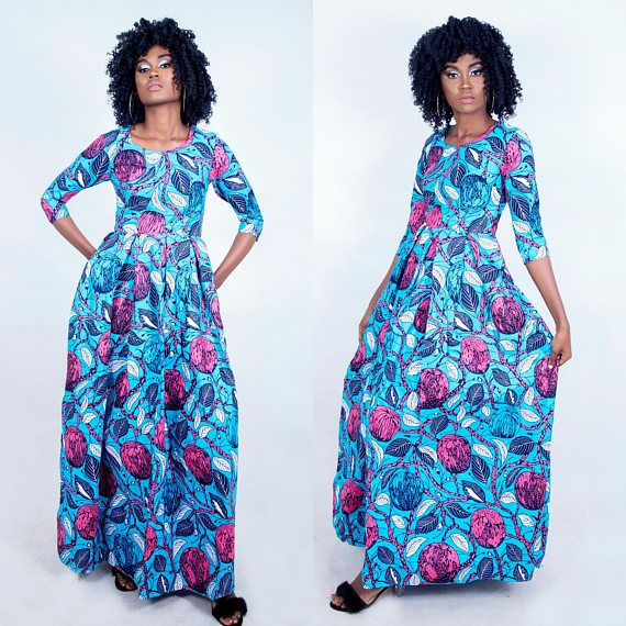 Check out this item in my Etsy shop https://www.etsy.com/uk/listing/570090229/ayo-african-maxi-dress-african-dress