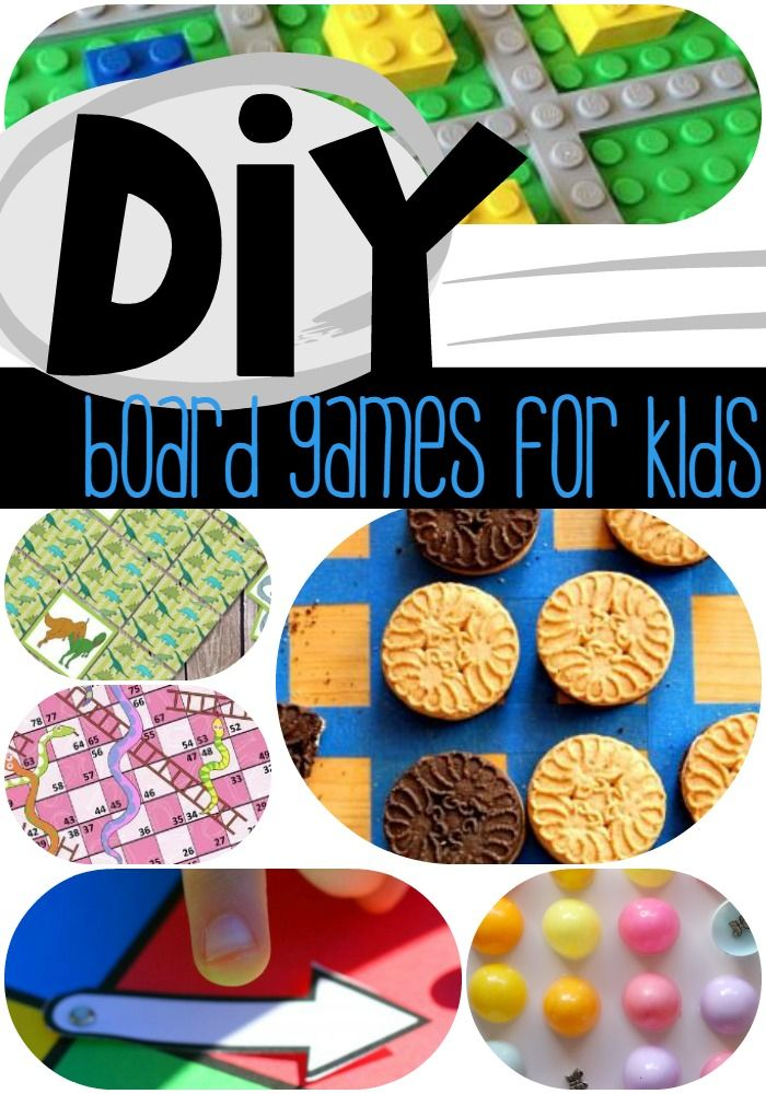All the best DIY board games to play with your kids! They will love creating these games and playing them together!