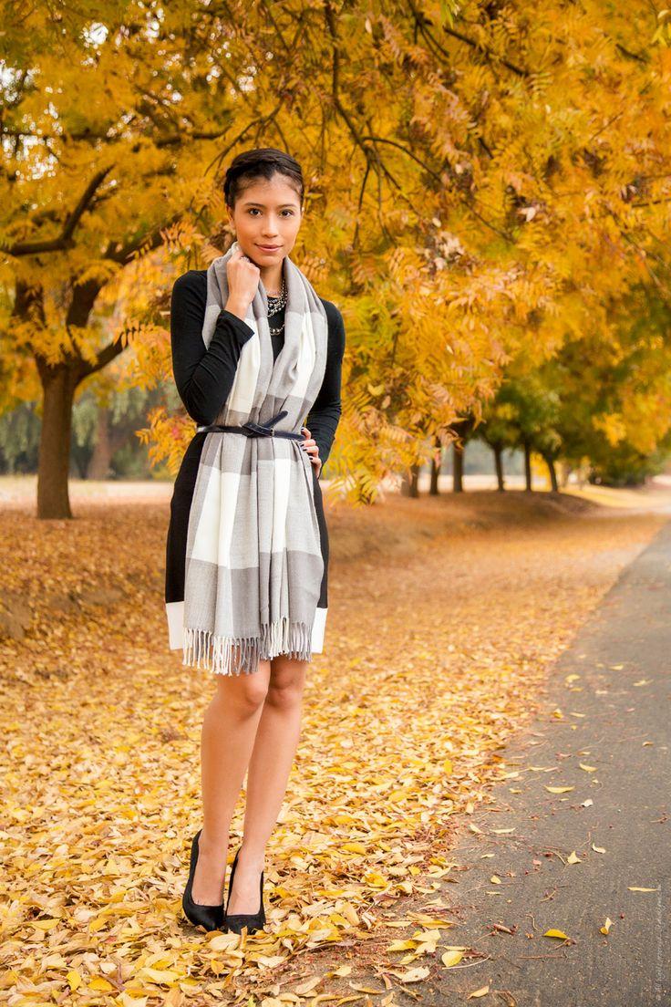 black white fall outfit - Stylishlyme