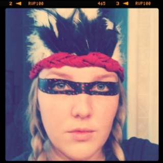 hmmmm.  I need to design a head piece for Warrior Dash