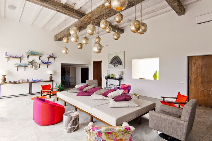 Amazing Modern Eclectic Spanish influence interior.