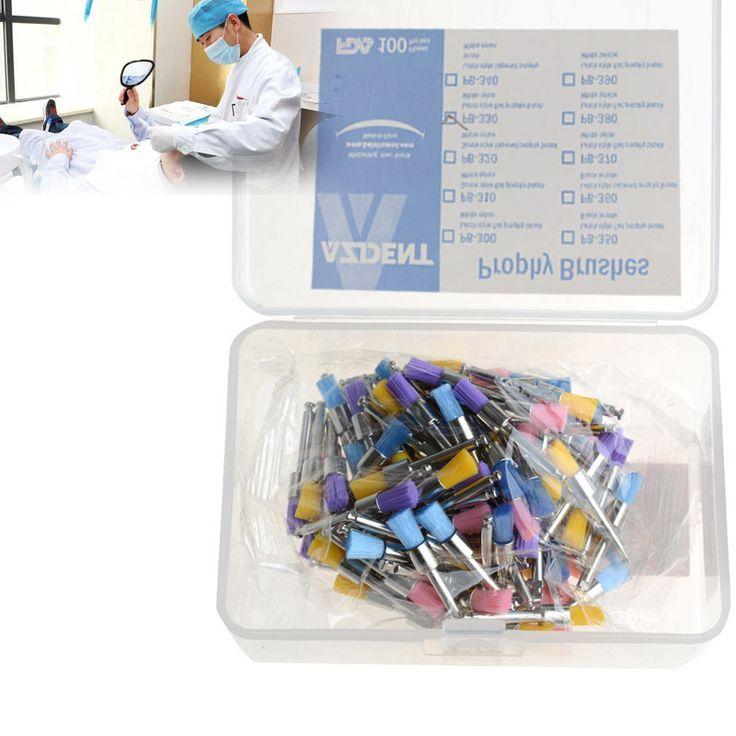 100pc/Box Colorful Nylon Bowl  PB-330 Polishing Polisher Brush  Flat Type Teeth …