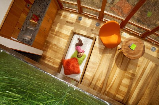 1000 ideas about yoga studio interior on pinterest home for Bed built into floor