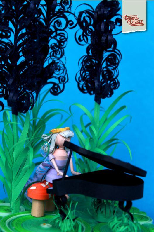 Kelanjutan dari fairy series paper quilling. Kali ini sesosok peri tertangkap kamera di taman lavender.