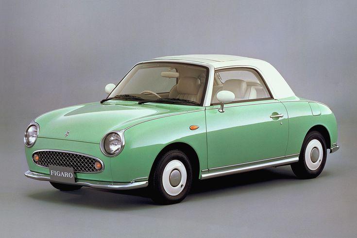 Il était une fois le must de la voiture de collection. LA nissan figaro. Toutes les couleurs et un seul modèle de 1990' c'est la nouvelle (d'y il y ees annees) japonaise à la mode. Décapotable, volant à droite, elle est parfaite.