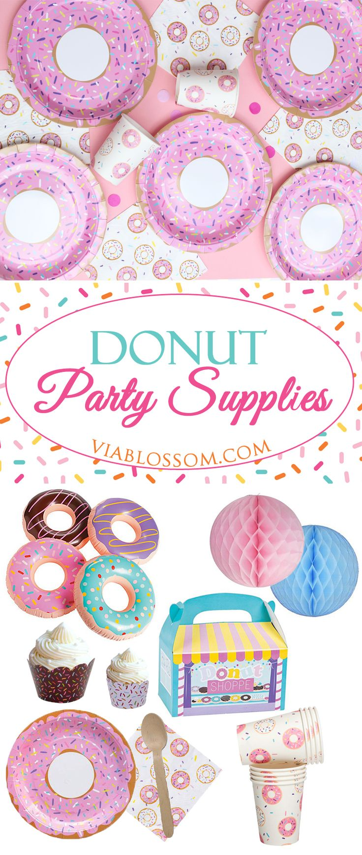 You will love our Donut Party Ideas and Decorations!!We have everything you'll need for a Doughnut Party!!